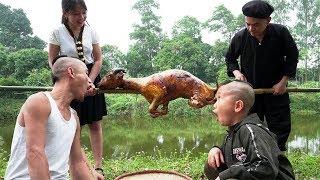 Tộc Trưởng Trổ Tài Dê Quay Cả Con Thiết Đãi Anh Em Tam Mao Và Cái Kết | Food Girl