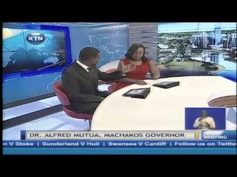 Guest anchor- Alfred Mutua on Friday Briefing(Development in Machakos County)