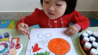 Coloring page Fruits for children Baby Colors Fuits How to Paint for kids Coloring with watercolor