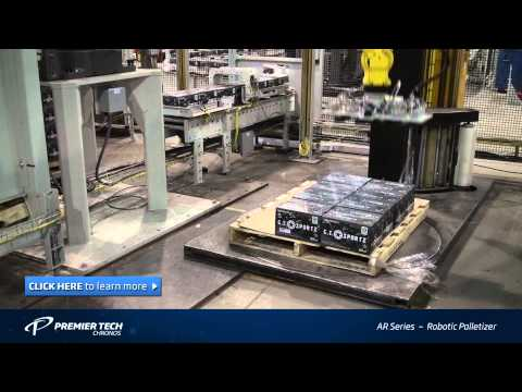 Robotic case Palletizer and Stretch Wrapper (RPW Series)
