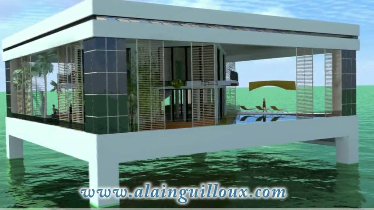 Maison sur pilotis en b ton youtube for Maison en plaque de beton