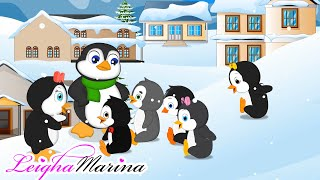 Five little penguins went out one day | song for kids | Leigha Marina