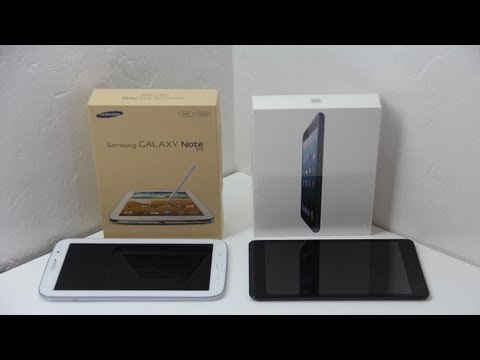 "Samsung Galaxy Note 8.0 VS Apple iPad Mini 8"" Tablet Comparison (Which Tablet Should I Buy?)"