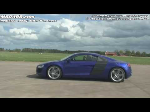 HD: Race 2 Audi R8 R-Tronic vs BMW M3 manual: MBOARD.com