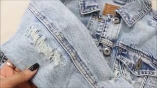 DIY Distressed Denim Jacket  Easy Tutorial! CillasMakeup88