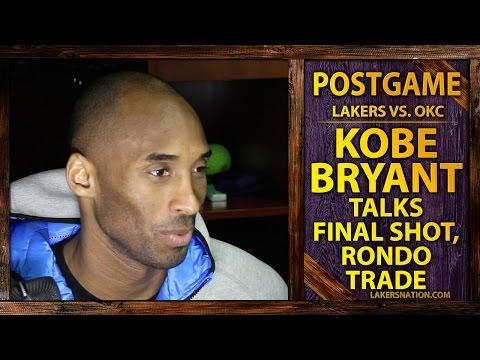 Lakers Kobe Bryant Talks Fatigue, Rajon Rondo Trade