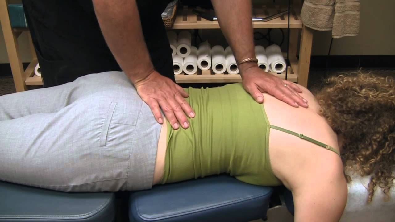 First Time Chiropractor Upper Back Adjustment 2