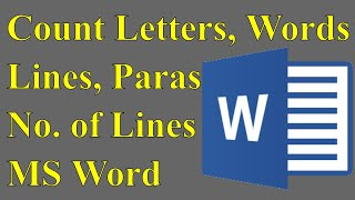Categorias de vdeos microsoft word word count how to count letters in microsoft office ms word 2007 2010 spiritdancerdesigns Images
