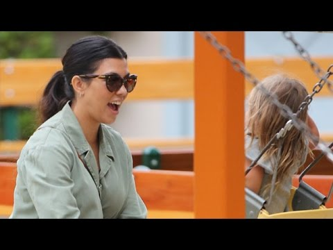 EXCLUSIVE - Kourtney Kardashian Is All Smiles After Kim's Second Pregnancy Is Announced