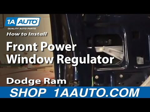 How To Install Repair Replace Front Power Window Regulator Dodge Ram 02-08 1AAut