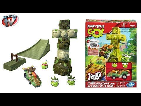 Angry Birds GO! Jenga Tower Knockdown Toy Review. Hasbro