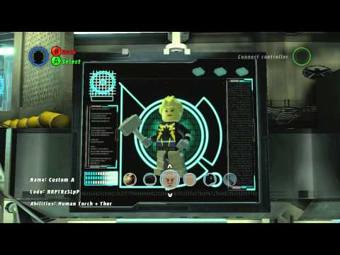 LEGO Marvel Superheroes - A Look at Character Creator With Commentary