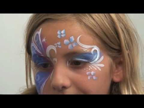 Leopard Half Face Paint Half Buttefly Face Painting