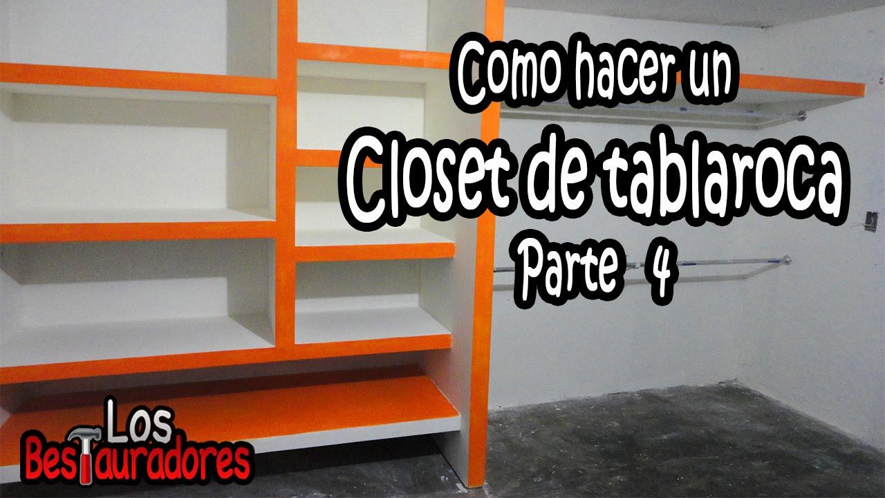 Como hacer closet ropero de tablaroca parte 4 juntas - Como hacer un closet en una habitacion ...