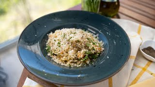 Dave's Kitchen - Creamy and Rich Risotto with mushrooms and veggies