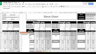 personal trainer workout template