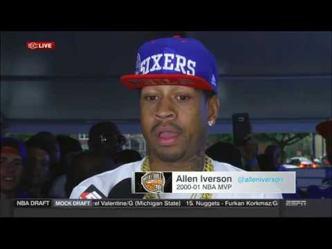 Allen Iverson discusses Ben Simmons, Philadelphia, the NBA Finals and the Hall of Fame (2016)