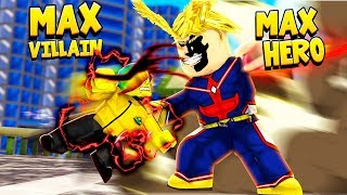 I got the MAX VILLAIN POWER and fought the MAX HERO (Roblox)