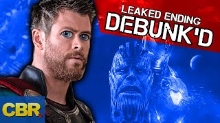 The Ending Of Marvel Avengers Endgame Leaked? Theory Debunked