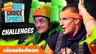 KCS Challenges 💚 ft. Laurie Hernandez & Rob Gronkowski | #KidsChoiceSports