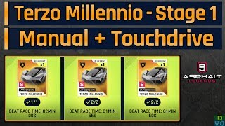 Asphalt 9 | Terzo Millennio Mega Event | Stage 1 - Manual + Touchdrive