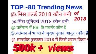 TOP-80 Trending News of November and December 2018