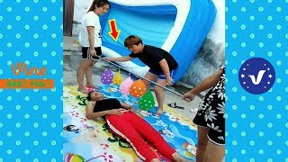 Best Funny Videos 2019 ● Cute girls doing funny things P4