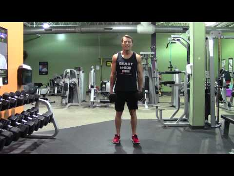 Dumbbell Shrug - HASfit Trap Exercise Demonstration - DB Shrug - Traps...