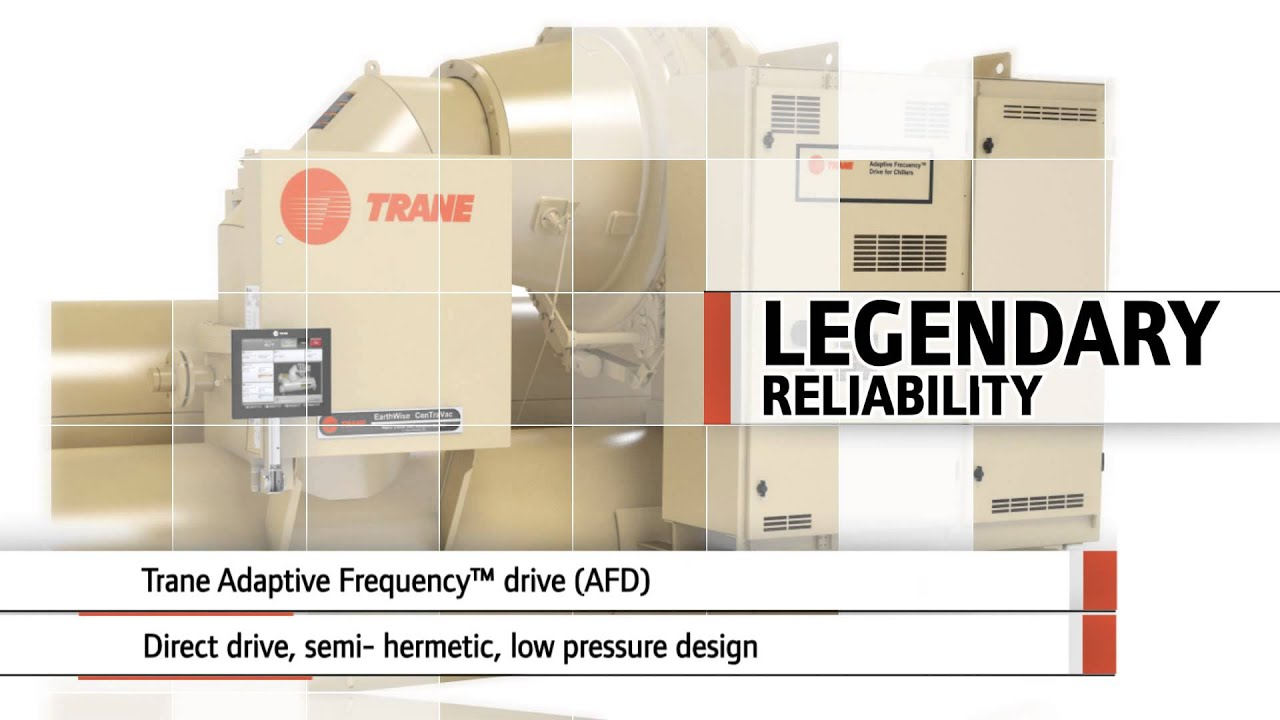 Trane® Series L™ CenTraVac™ chiller for elevated chilled water  #A23D29