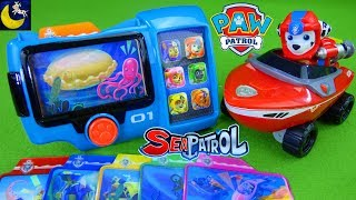 Lots of Paw Patrol Sea Patrol Toys Pup Pad Rescue Mission Cards Chase Skye Marshall Vehicles Toys