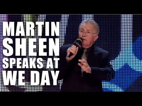 Martin Sheen at We Day: Why Not?