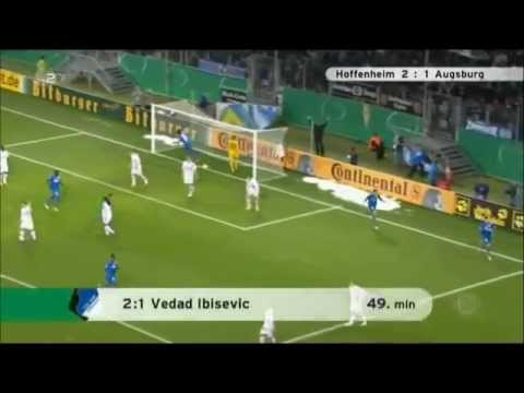 Salihovic and Ibisevic goals for Hoffenheim vs Augsburg