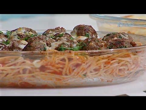 مكرونة بشاميل بالسجق - مكرونة كرات اللحم بصوص الطماطم #غفران_كيالي من برنامج #هيك_نطبخ #فوود