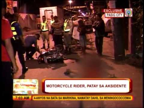 Motorcycle rider dies in Pasig crash