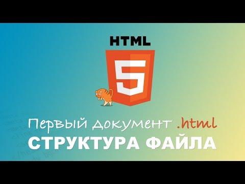 HTML для начинающих. Введение. Документ .html и структура файла. #1.