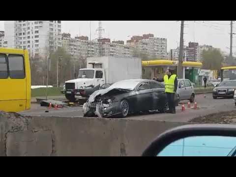 ДТП Киев Троещина пр. Степана Бандеры 31.03.2017