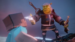 Shrekku Hunts For Steve (Minecraft) After Area 51 Raid (Animation)