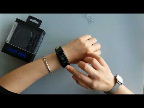 NO.1 F4 Smartband multi sport mode with IP68 Waterproof Unboxing