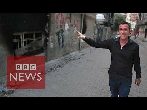 Inside Turkey's battle scarred Kurdish town - BBC News