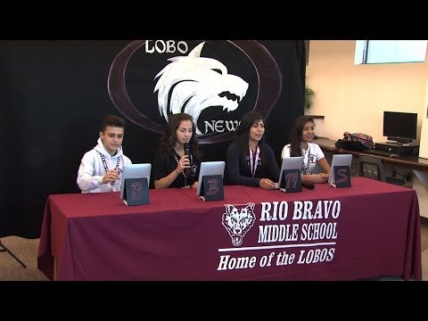 Lobo News Team at Rio Bravo Middle School