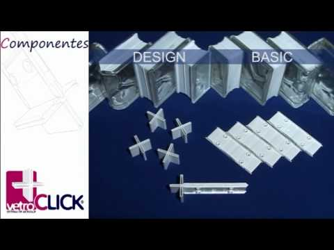 Vetroclick sistema de montaje para bloque de vidrio paves - Colocacion de bloques de vidrio ...