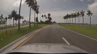 Bay Harbor Islands, Florida - Drive across Broad Causeway (State Road 922) HD (2015)