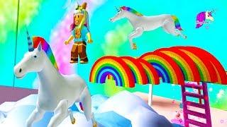 Rainbows + Unicorns ! Random Roblox Games - Honey Hearts C Video