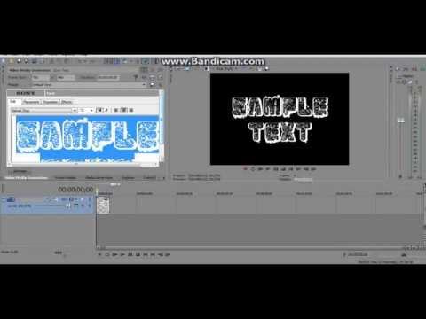 Как сделать шрифт в сони вегас