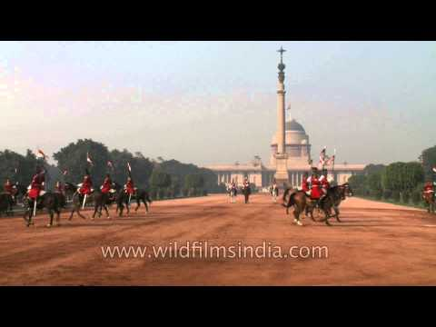 President's guard on horses at the Guard Mounting in Rashtrapati Bhavan