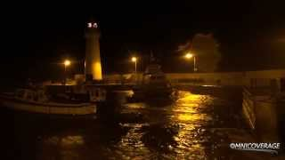 Donaghadee Harbour during massive storm