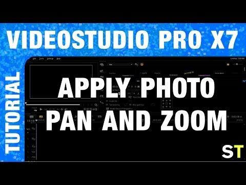How to Apply Pan / Zoom to Photos in Corel VideoStudio Pro X7 Tutorial