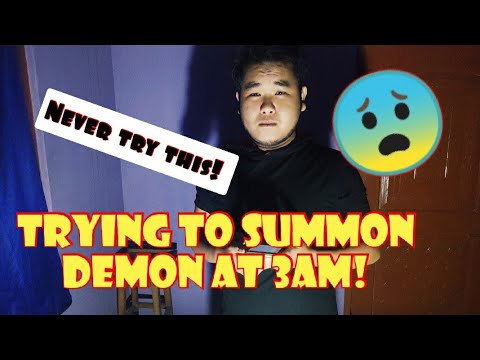 Tonight:/Trying to summon the demon at 3am all alone ! (don't try this)