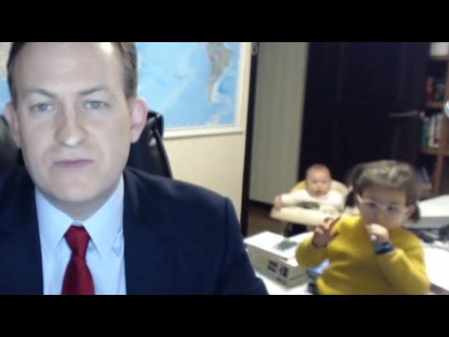 Watch The Hilarious Moment These Kids Crash Their Dad's Live Interview