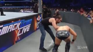 John Cena & Dean Ambrose vs  AJ Styles & The Miz  SmackDown LIVE, Sept  13, 2016